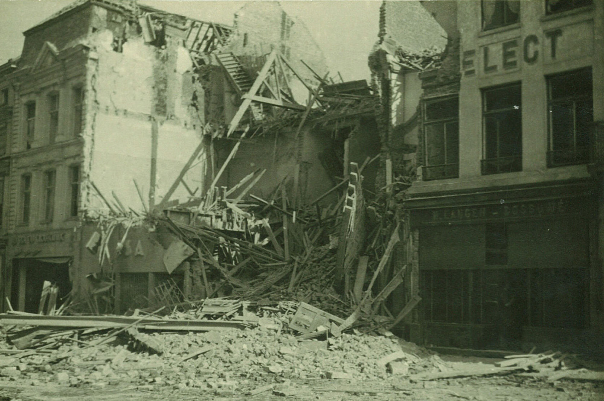 Leiestraat in 1944
