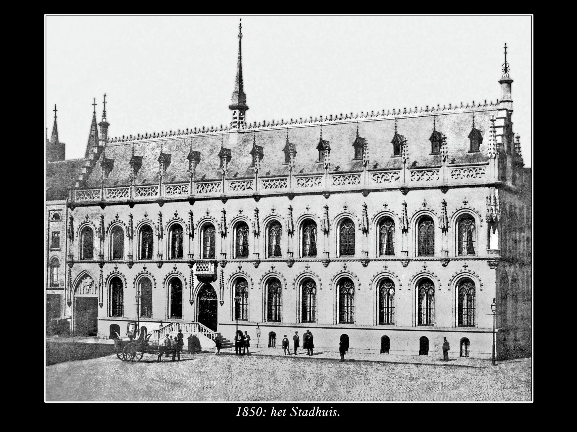Het stadhuis anno1850