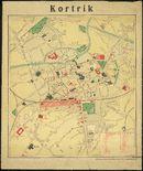 Stadsplan Kortrijk 1917