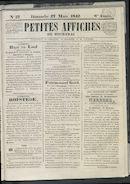 Petites Affiches De Courtrai 1842-03-27