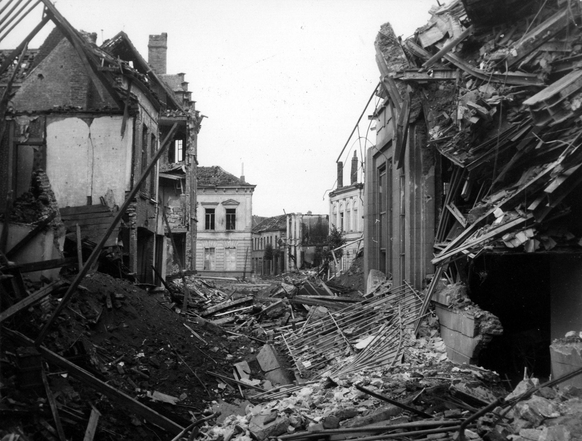 Hazelaarstraat in 1944