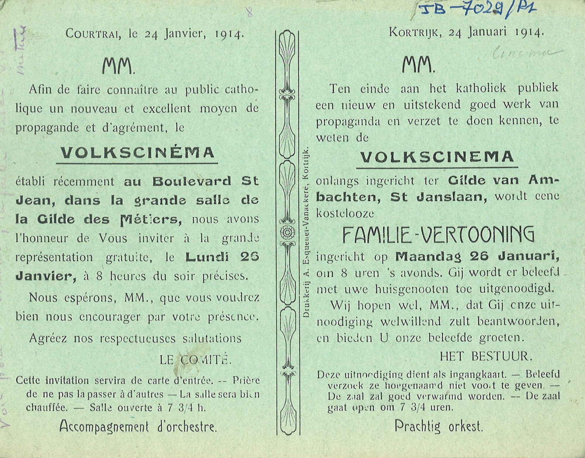 Volkscinema in 1914