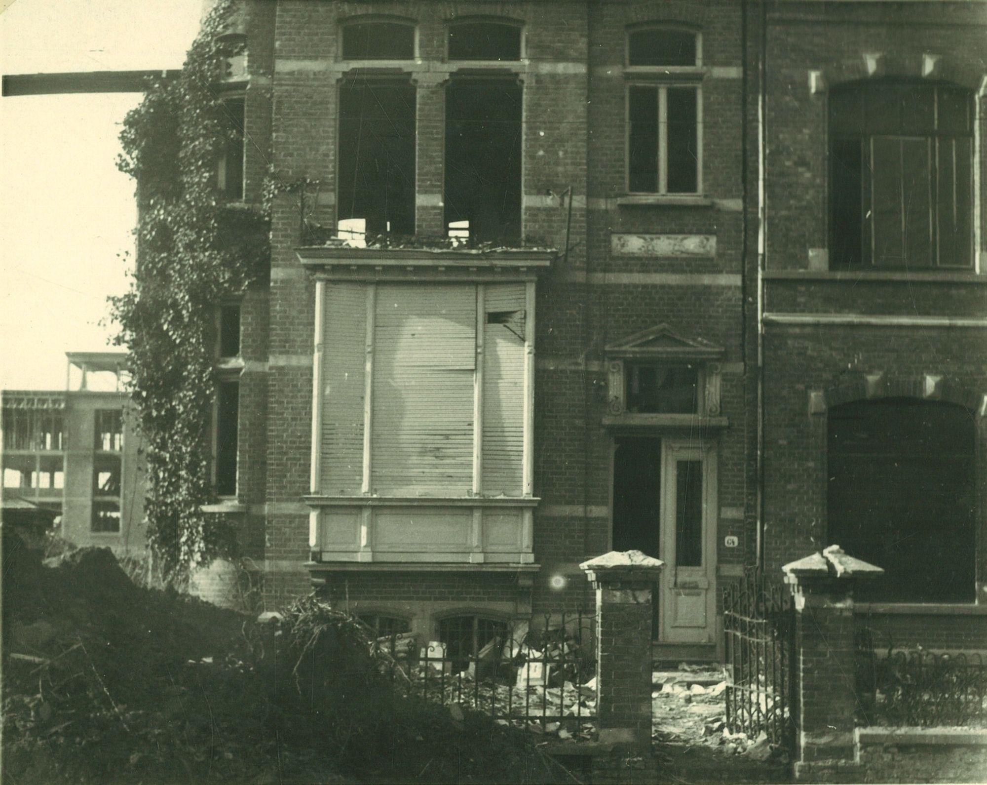 Bombardementen in de Minster Vanden Peereboomlaan 1944