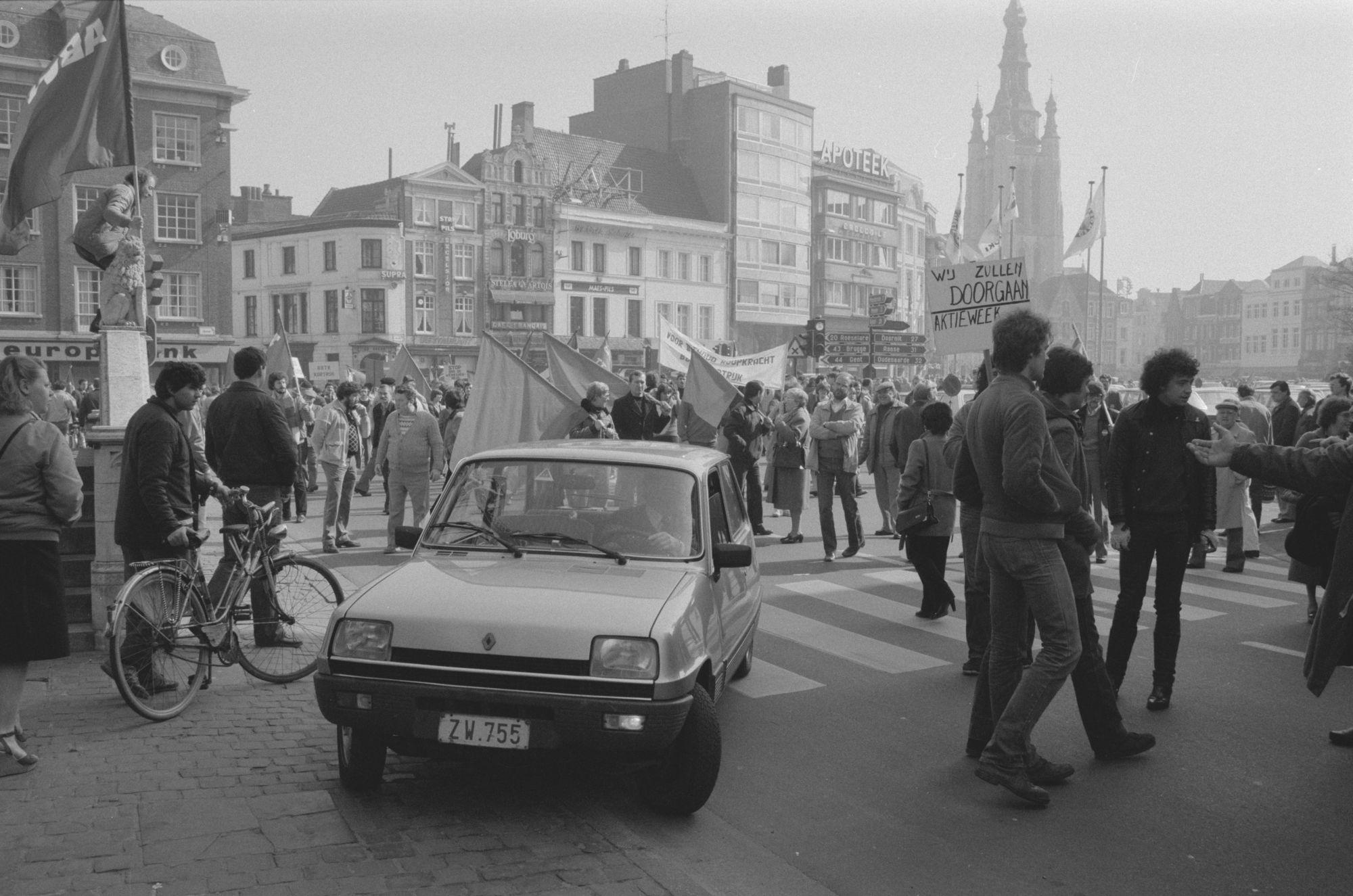 Betoging in maart 1982
