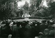 Misviering in het Koningin Astridpark ter ere van Broeder Isidoor 1952