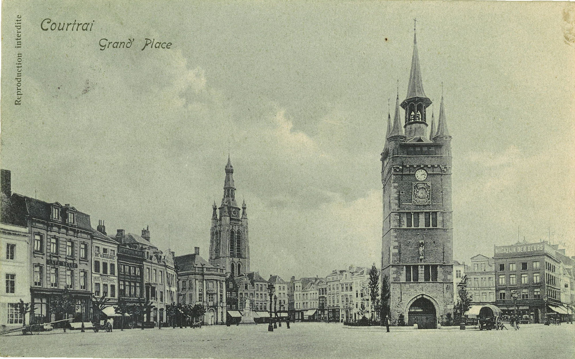 Oost-en zuidkant Grote Markt en Belfort