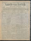 Gazette Van Kortrijk 1909-10-28