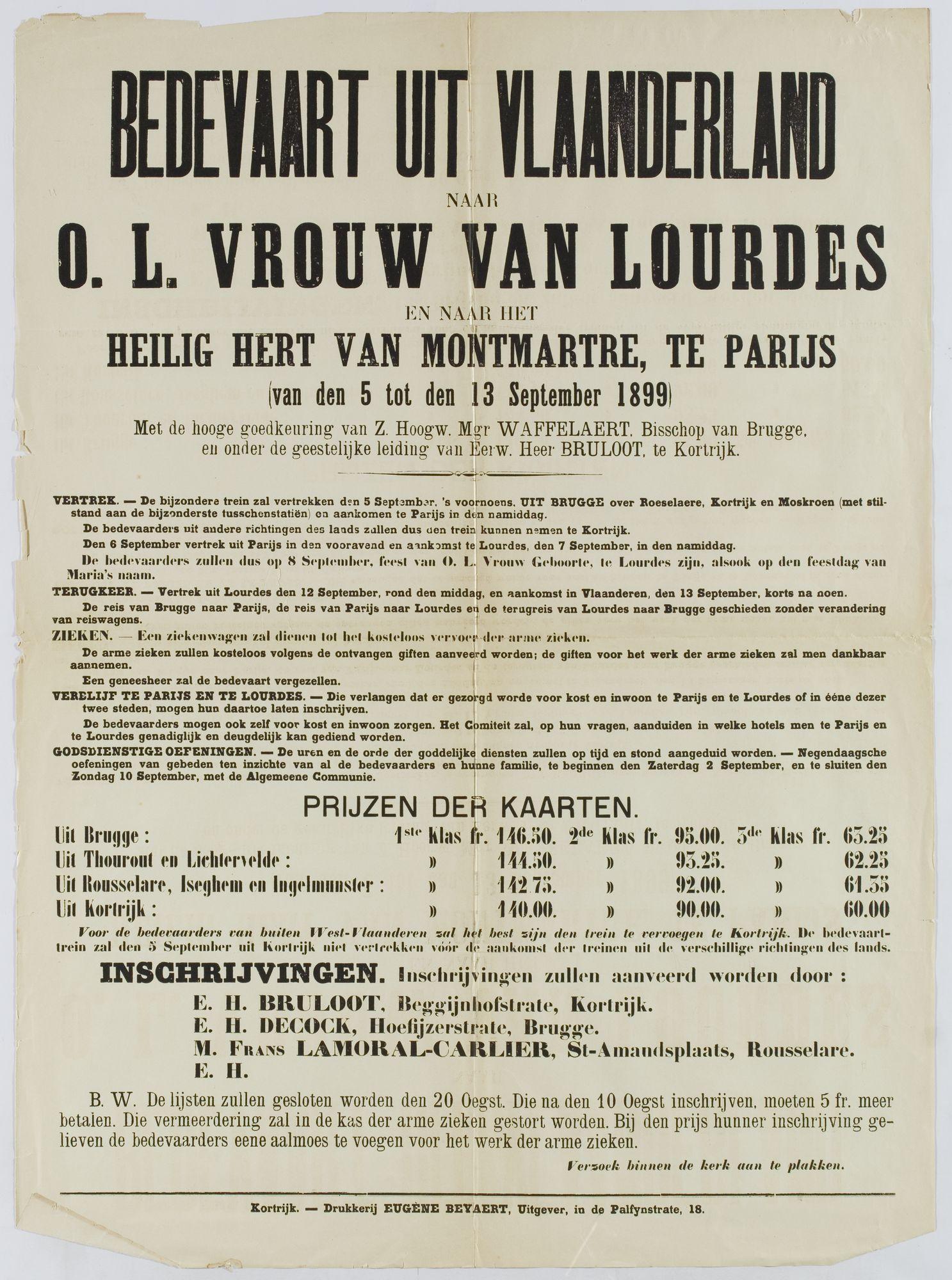 Bedevaart 1899