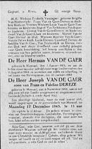 Joseph Van De Gaer