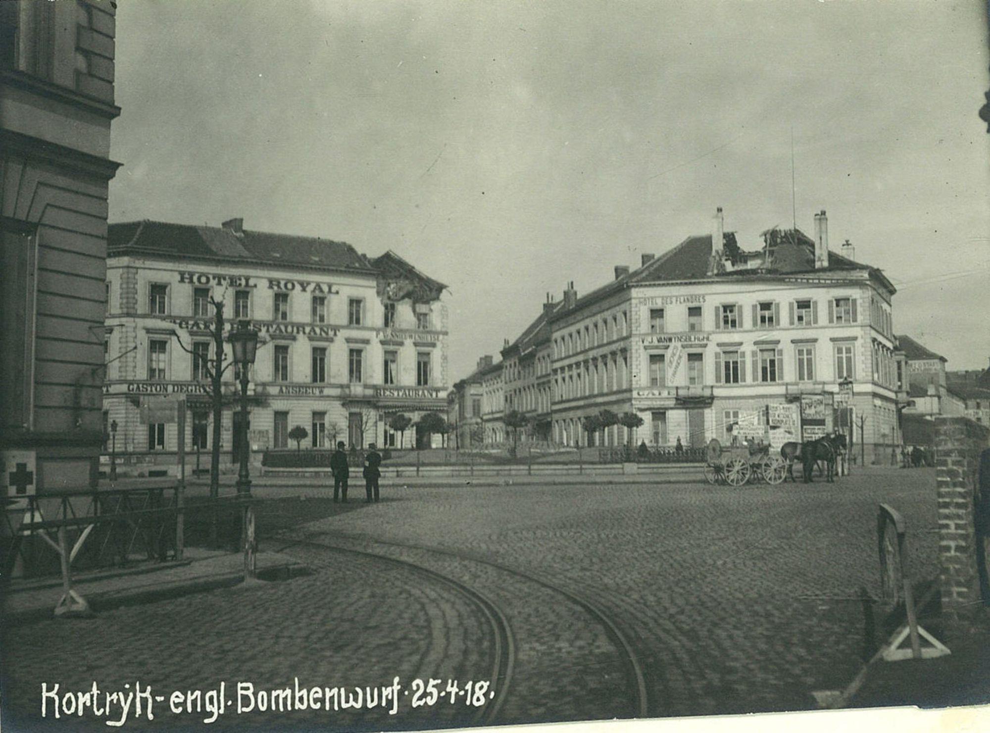 Stationsplein in 1918