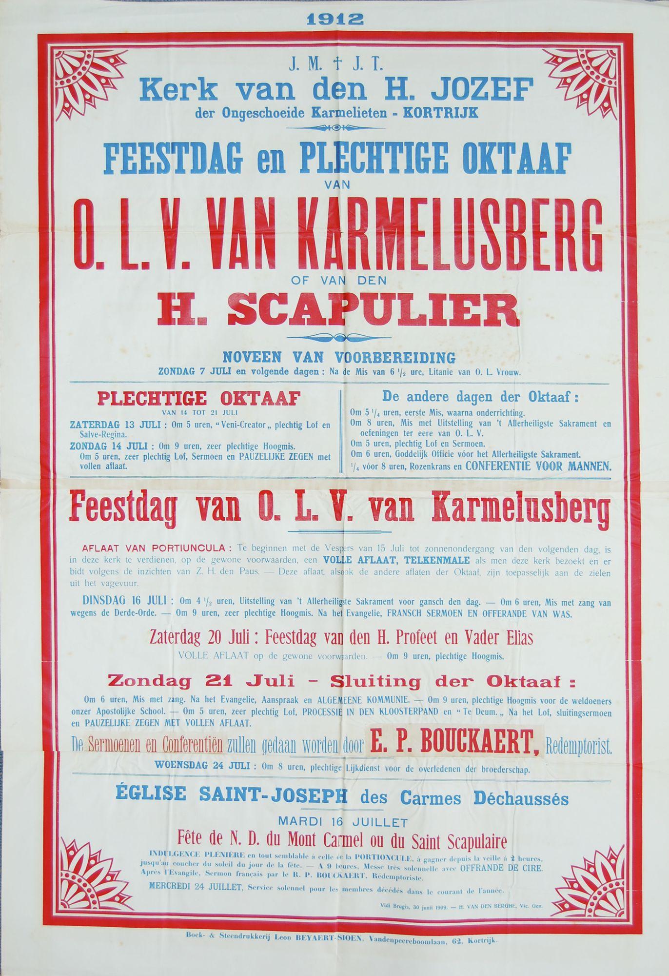 Plechtigheid Sint Jozefskerk in 1912