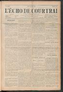 L'echo De Courtrai 1911-08-31