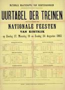 Uurtabel Buurtspoorwegen 1902