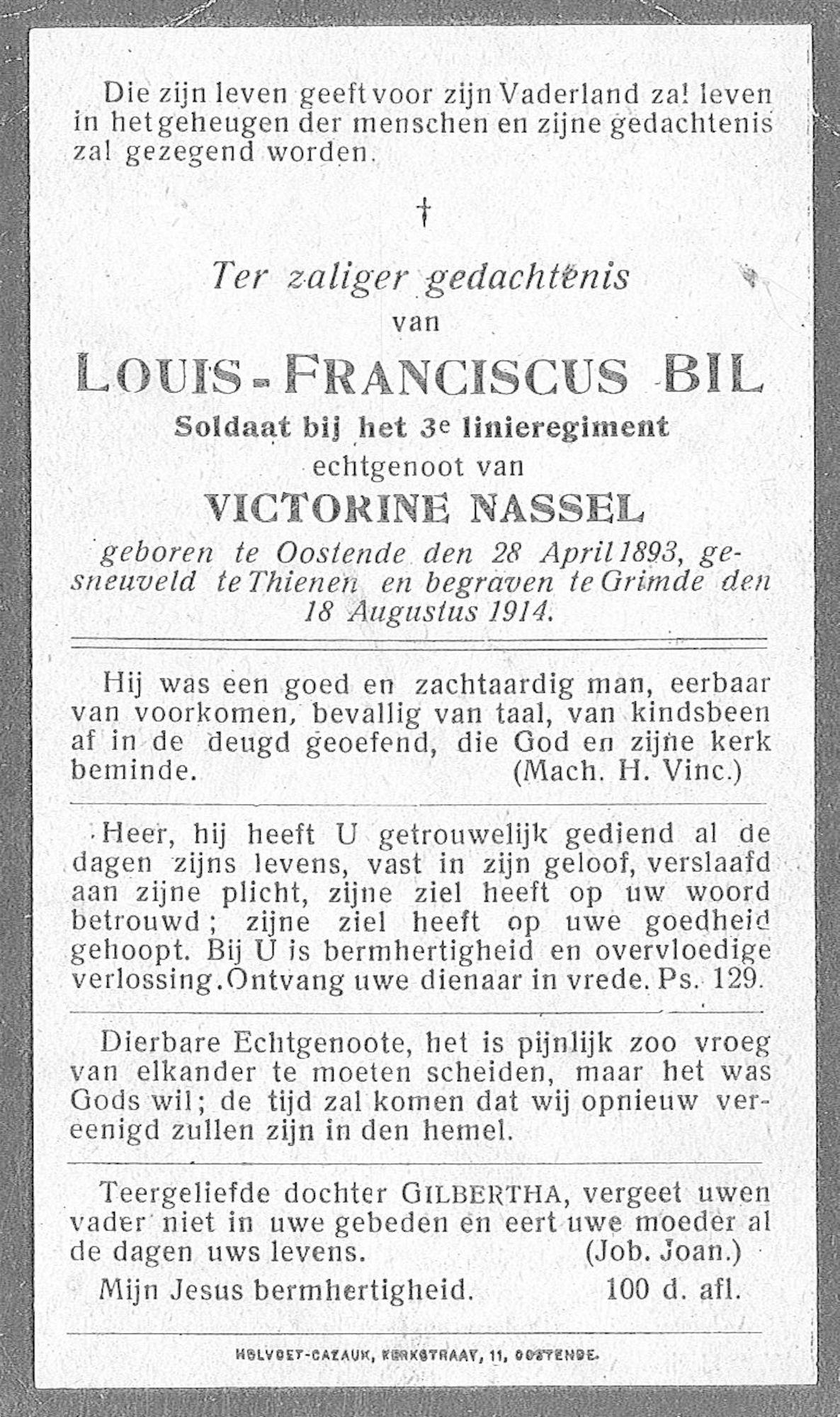 Louis Franciscus Bil