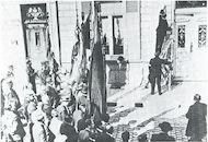 Gedenksteen Hendrik Conscience in de Hendrik Consciencestraat 1933