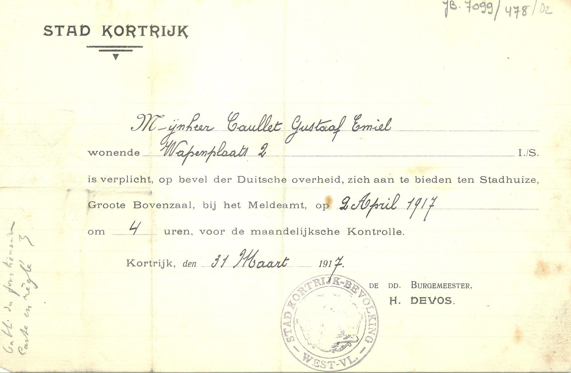 Verordening in 1917