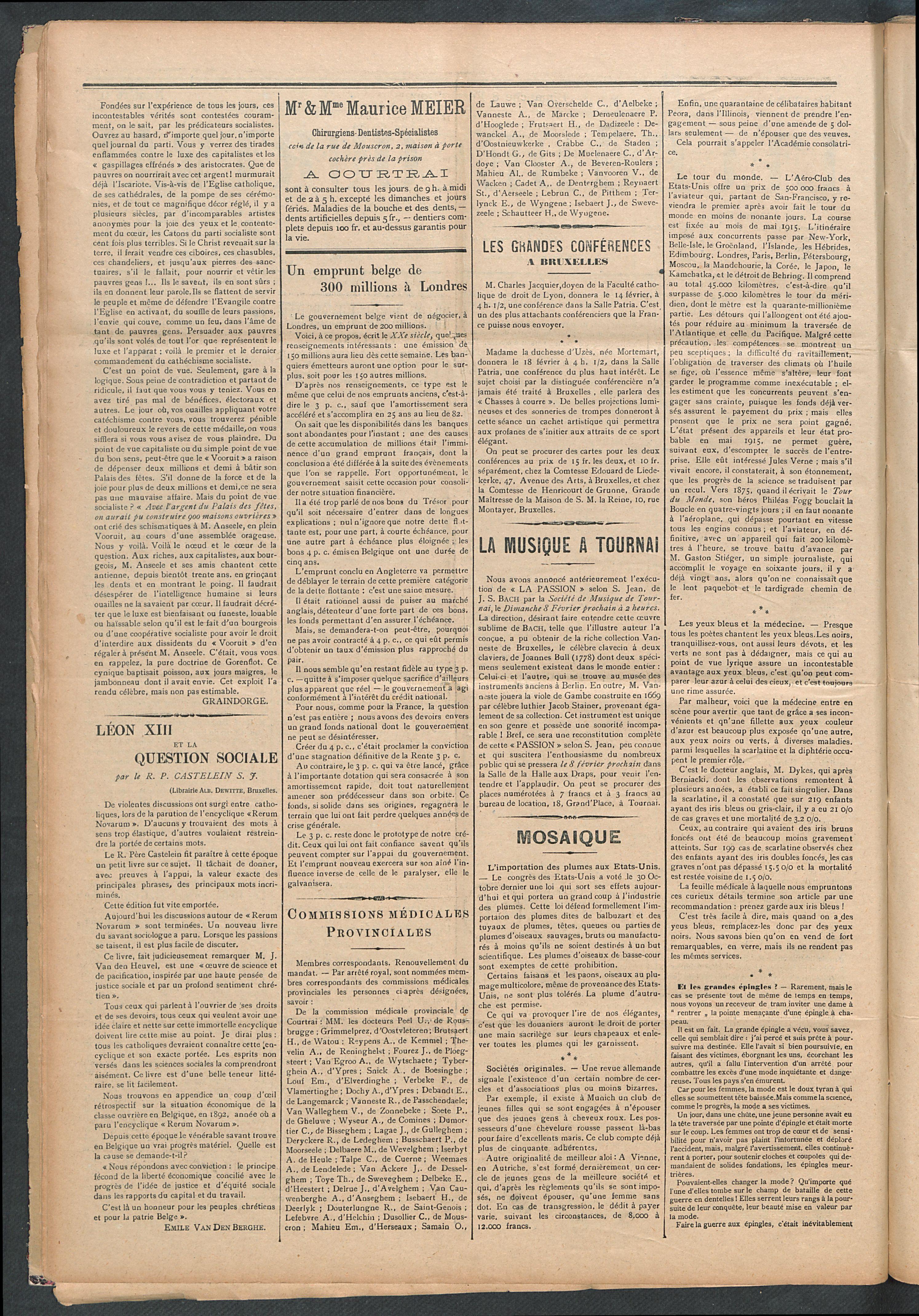 L'echo De Courtrai 1914-02-08 p2