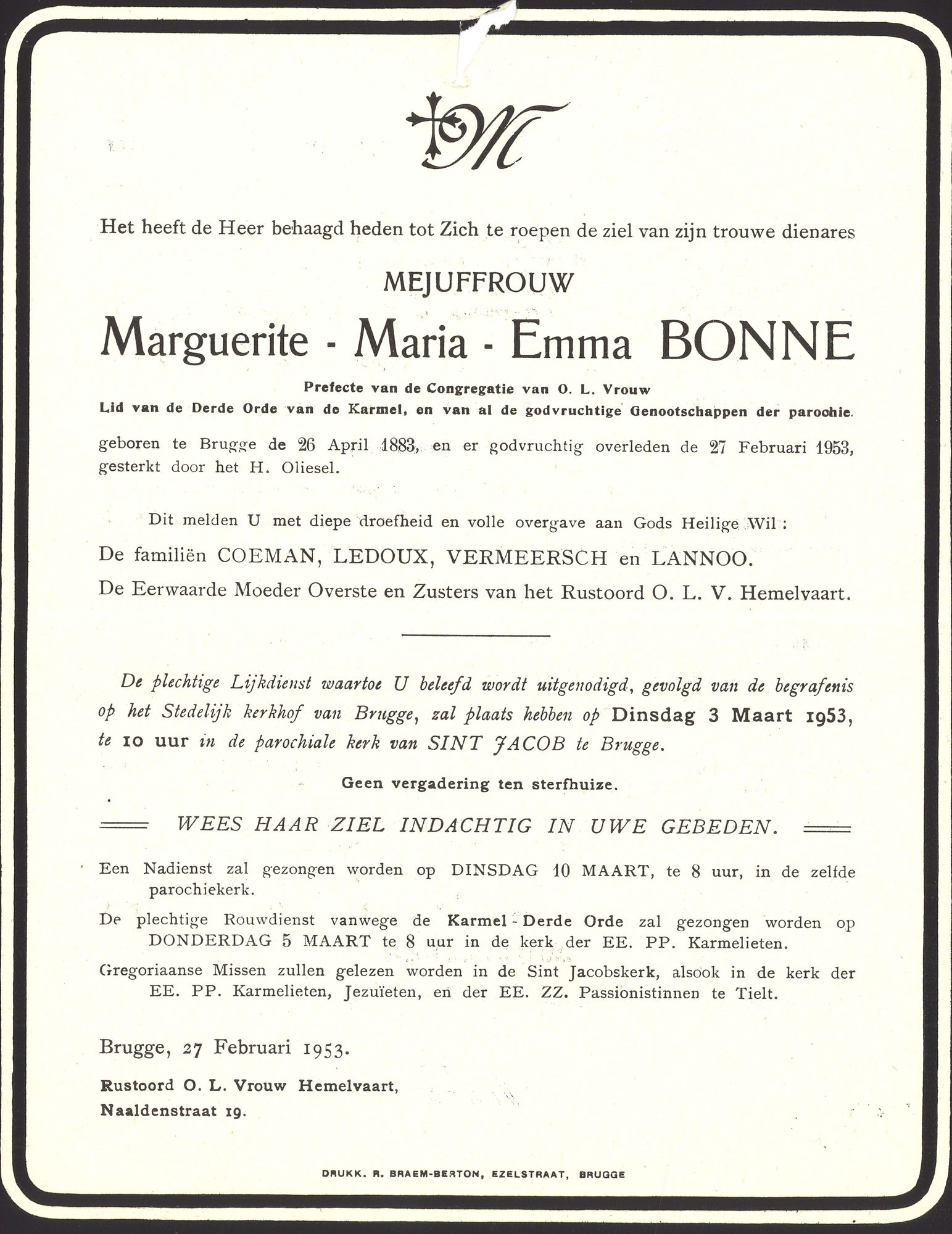Marguerite-Maria-Emma Bonne