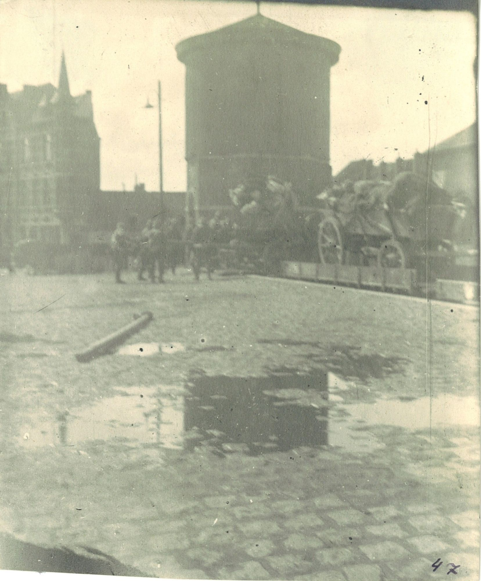 Watertoren tijdens Wereldoorlog I