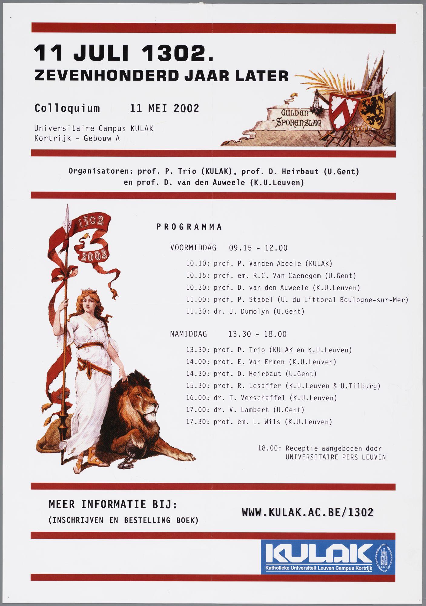 Feestelijkheden 1302 in 2002